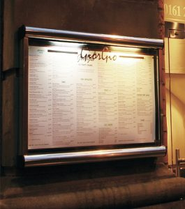 Menu Display Case